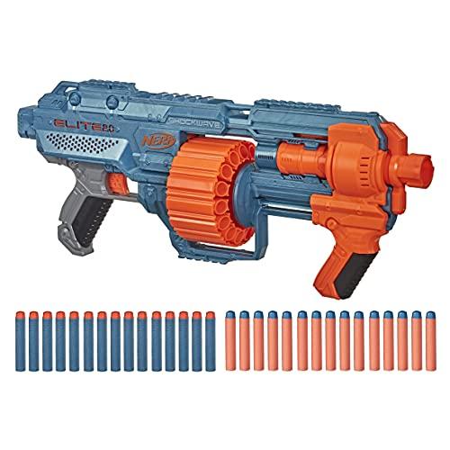 Hasbro E9527F03 Nerf Elite 2 Shockwave RD-15 Blaster, 30 Nerf Darts, 15-Dart Rotationstrommel, Schnellfeuer mit Pump-Action, mit Erweiterungsoptionen, frustfreie Verpackung