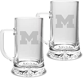 University Glass NCAA Kansas State Wildcats Adult Set of 2-23 oz University Pilsners Deep Etch Engraved Clear One Size