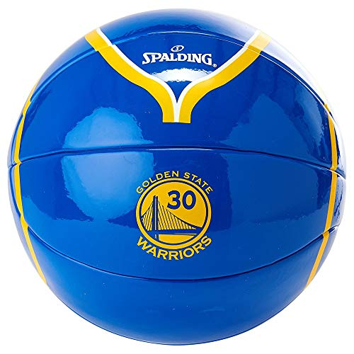 Spalding Unisex – Babys NBA Player Stephen Curry Basketball, gelb/blau, 1.5