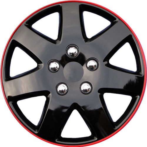 15 inch hubcaps black and red - 3