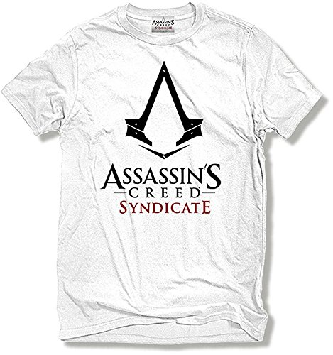 CID Herren Assassin's Creed Syndicate - Logo T-Shirt, Weiß, Medium