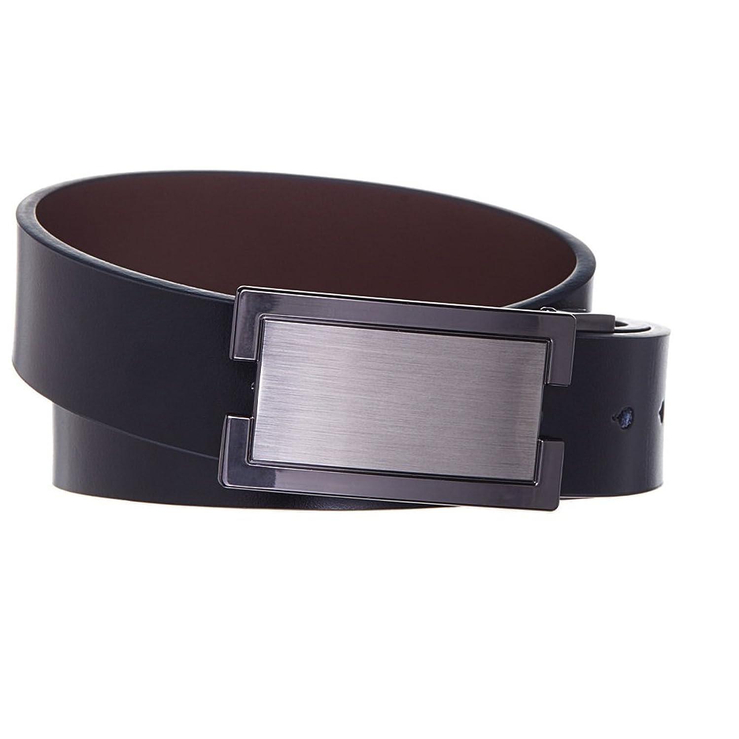 Men's Belt Metal Frame Magnetic Leather