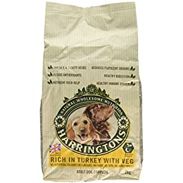 Harrington's Dog Food Complete Turkey and Vegetables Dry Mix, 2 kg, Pack of 6