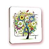 QTDS Aufkleber Wechseln Farbige Baumbeleuchtung PVC Schalter Aufkleber Buchse Aufkleber Wasserdicht Kreative Dekoration Kinder Schlafzimmer Wohnzimmer Decorat -