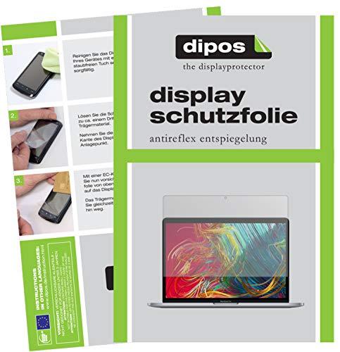 dipos I 2X Schutzfolie matt kompatibel mit Apple MacBook Pro 13 Zoll (2020) Folie Bildschirmschutzfolie