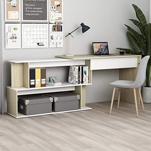 Moderner Schreibtisch, Eckschreibtisch Arbeitstisch Bürotisch Laptoptisch Büromöbel, für kleine Räume, Arbeitsstation