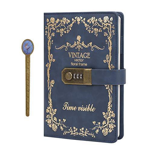 64K Carnet Secret Cahier de Cadenas Fille Bullet Journal Intime Cahier de Voyage avec Couverture Rigide Bloc-notes...