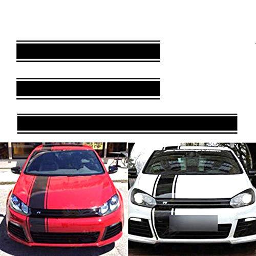 housesweet Car Racing Rayas de Techo Vinilo Adhesivo Capucha Calcomanías y gráficos Decoración de Camiones de automóviles