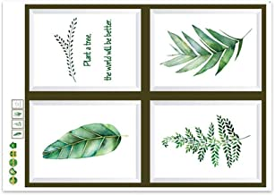Wall Art Decor with Printed Frames, BIGBOBA Art Modern Poster Print Tropical Leaf Watercolor Painting Palm Unframed Nordic...