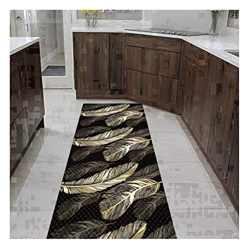 XZPENG Alfombra de la Alfombra de la Alfombra Larga de la Alfombra, 3D sin Deslizamiento contemporáneo alfombras Negras del Borde para la Entrada del Pasillo, tamaño Personalizable Moda, Creatividad,