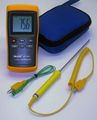 Professional High Range Digital K-Type Thermocouple Thermometer DT1311 w. Stainless Steel Probe TC-3y