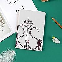 おしゃれな新しい ipad pro 11 2018 ケース 傷つけ防止 二つ折 開閉式 防衝撃デザイン 超軽量&超薄型 全面保護型 (iPad Pro11 インチ)パリのタワーエッフェルレタリング図カップル旅行花花の巧みなデザイン