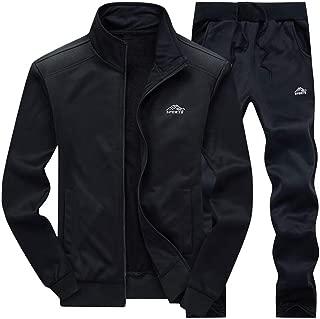 PASOK Men's Casual Tracksuit Long Sleeve Full Zip Running Jogging Sweatsuit Athletic Sports Set