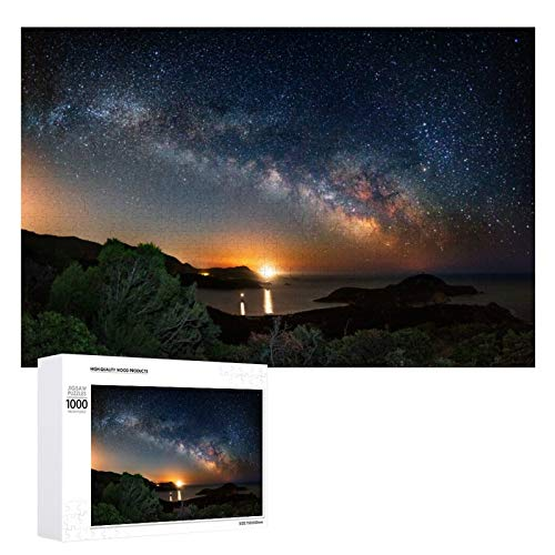 Jigsaw Puzzles 1000 Pieces for Adults, Cape Malfatano on The Milky Way Puzzles Intellectual Decompressing Fun Family Game Large Puzzle Adult Kid Game Toys Gift 1000 PCS