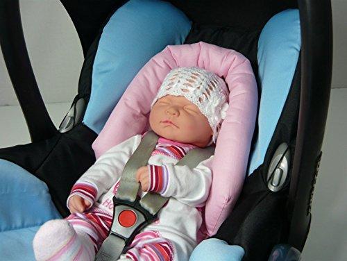 Sweet Baby ** SOFTY NewBorn ** Auto-Sitzverkleinerer//Kopfst/ütze f/ür Baby-Autositz Rose