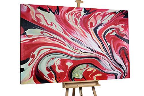 'Liebeslilie' 180x120cm   Blume Rot Liebe XXL   Modernes Kunst Ölbild