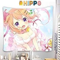 HIPPO タペストリー ご注文はうさぎですか? 保登 心愛 ほと ここあ 大判壁掛け ポスター アニメの絵 掛ける絵 背景布け 多機能 インテリア 装飾用品 漫画 HD プレゼント カスタム可能 130 x 150cm