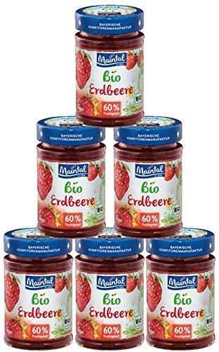 Set Bio + vegan Erdbeer Fruchtaufstrich, 6 x 210 g