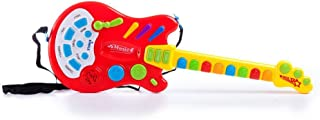 Dimple Toy Electric Guitar with Over 20 Interactive Buttons, Levers & Modes with Sound & Lights