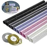 Comius Sharp 10 Hojas Papel de Regalo, 5 Colores Soñadora de Papel Viene con Dos Rollos d...