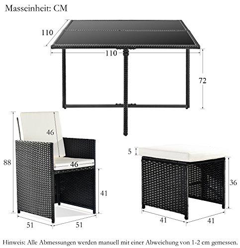 Poly Rattan Lounge Gartenmöbel Set Sitzgruppe Bild 3*