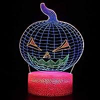 HOHHJFGG カボチャ3dledデスクランプタッチスイッチアクリルカラフルなUSBナイトライト、家庭の寝室の装飾の創造的な贈り物に使用