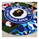 Bape Camo Soft Round Area Rug Thicken Kitchen Bedroom Living Room Mat