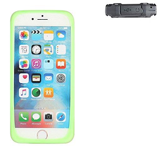 K-S-Trade® Für Simvalley Mobile SPT-210 Silikonbumper/Bumper Aus TPU, Grün Schutzrahmen Schutzring Smartphone Case Hülle Schutzhülle Für Simvalley Mobile SPT-210