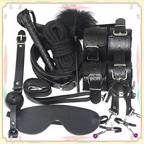 Roiz Accesorios de cinturón de Cuero para Ropa de Moda para Mujer, Negro 10 Piezas