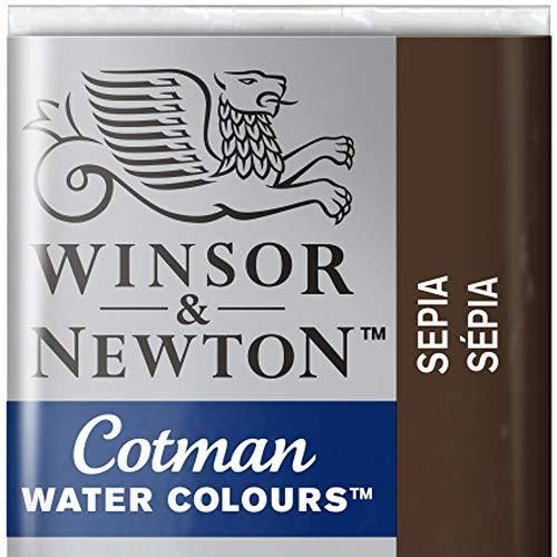 Winsor & Newton Cotman Acuarela En Pastilla, Sepia, 1,9x1,6x1,1 cm