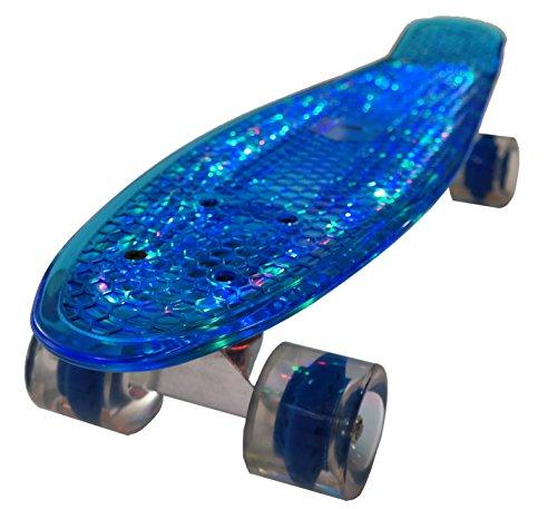 Bollinger GS-SB-X1L Penny Board con Luz, Niños, Azul, Talla Única