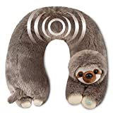 Neck Massager - Vibrating Body Massage - Neck Support - Pain Relief - Home, Office, Car - Plush Stuffed Animal (Sloth)