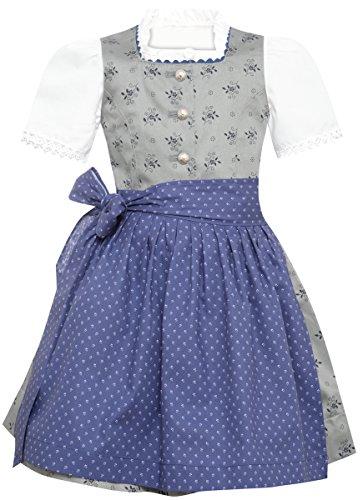 Berwin und Wolff Mädchen Trachten-Mode Dirndl für Kinder Irmi in Grau, Farbe:Grau, Größe:74