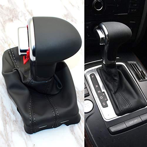 XJX Auto Automatic Shift Knob Fit for Audi A6 C6 A3 A4 B8 A5 Q5 Q7 2009 2010 2011 2012 2013 2014 Gear Shift Knob Boot (Color Name : Black)