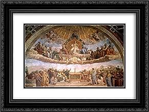 Raphael 2X Matted 24x20 Black Ornate Framed Art Print 'The Disputation of The Holy Sacrament'