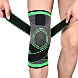 LILICEN HYF Outdoor Sports Pressurized Eight-Word Strap Knee-Guard Riding Basketball Green