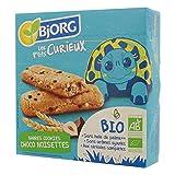 Bjorg Les P'tits Curieux – Barres Cookies Choco Noisettes Bio – 8 biscuits enfants individuels – 140 g