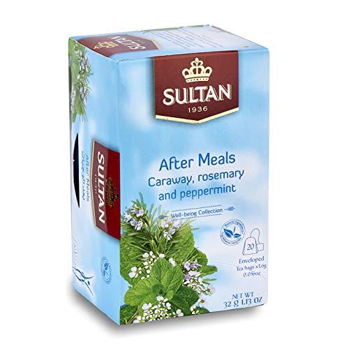 SULTAN TEE After Meals, marokkanischer grüner Tee mit Kümmel, Rosmarin und Pfefferminze Kräutertees (Packung mit 2 - 40 Teebeuteln)