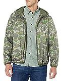Levi's Men's Lightweight Hooded Rain Jacket, Camouflage, Large