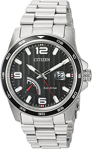 Citizen Men's Sport Japanese-Quartz Watch with Stainless-Steel Strap, Silver, 21 (Model: AW7030-57E)