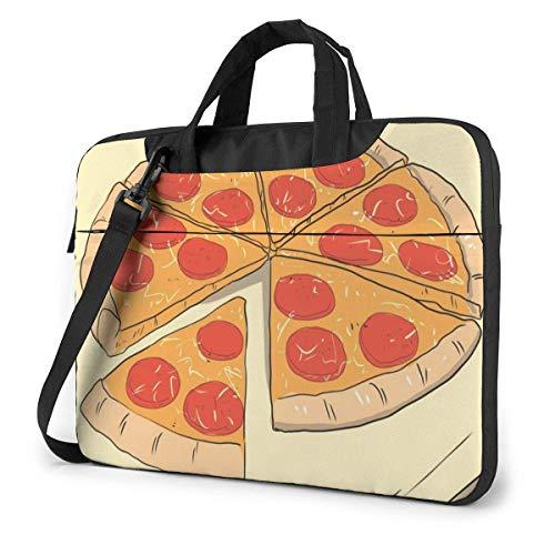 Pizza (2) Bolsa para computadora portátil Bolsa de Mensajero de Hombro de 14 Pulgadas Maletín de computadora para la Escuela de Trabajo