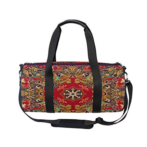 MNSRUU Boho-Reisetasche, indisches Paisley-Blumenmuster, groß, für Reisen, Reisen, Reisetasche
