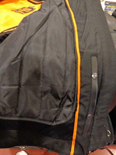 Herren Motorrad-Distressed Braun Sportliche Scooter Leder Jacke W/2Gun Taschen Regular) - 3