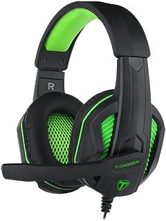 Headset Gamer T-Dagger Cook Preto e Verde T-RGH100-1