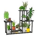 Pflanzenständer, Blumenständer für drinnen und draußen, mehrstöckiges Blumenregal, für Zimmerecke, Wohnzimmer, Balkon, Terrasse, Hof (M)