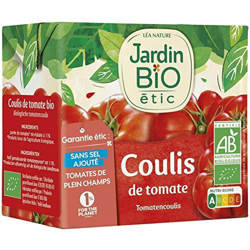 JARDIN BIO - Coulis De Tomate Bio Brique Tetra De 500G - Lot De 4