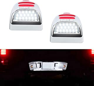 License Plate Light, GemPro 2Pcs Red OLED Neon Tube LED License Plate Lamp Assembly Compatible with Chevy Silverado 1500 2500 3500 Suburban Tahoe GMC Sierra 1500 2500 3500 Cadillac Escalade Yukon XL