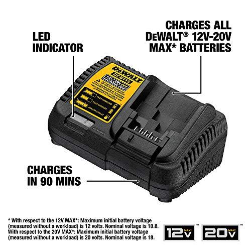 Chargeur de Batterie Lithium-Ion MAX 12 Volts à 20 Volts DEWALT - Modèle  DCB115 - 1