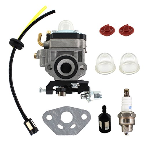 USPEEDA Carburetor for Jiffy Ice Auger Jiffy 2 Cycle Engines Replace 4082 Carb w/Gasket Fuel Filter Check Valve Fuel Line