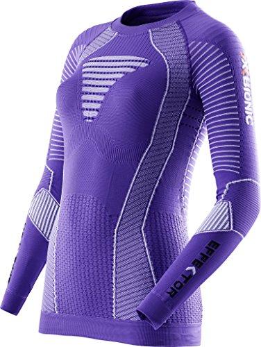 X-Bionic Maillot de Course pour Running effecteur Power Ow LG SL, Femme, Running Lady EFFEKTOR Power Ow Shirt LG_SL, Violet/Blanc